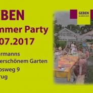 Geben-Sommerparty am 22.7.2017